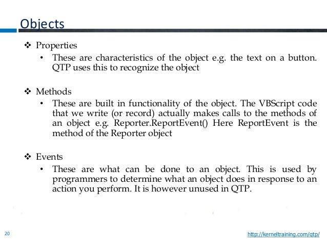 HP QTP Quick Test Professional Basics Online Training PPT
