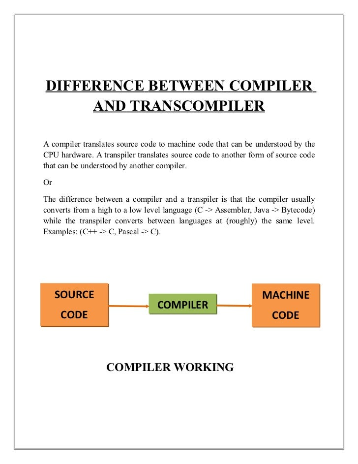 Source To Source Compiler