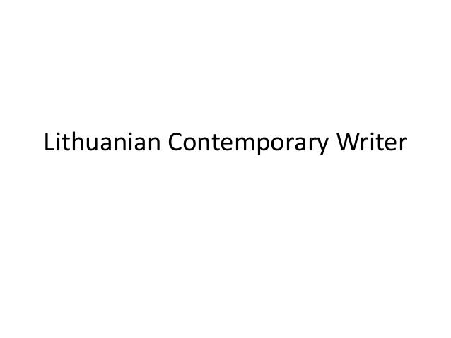 Lithuanian Contemporary Writer