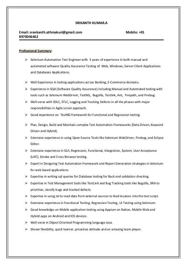 kanth testing resume