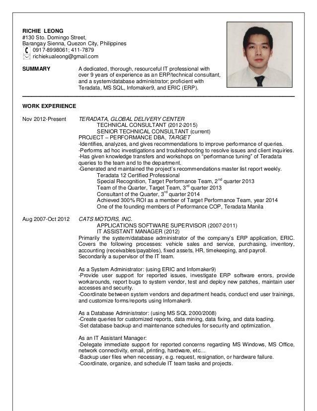 resume richie leong