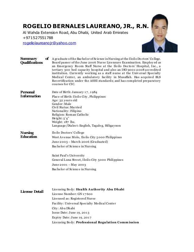 resume registered nurse