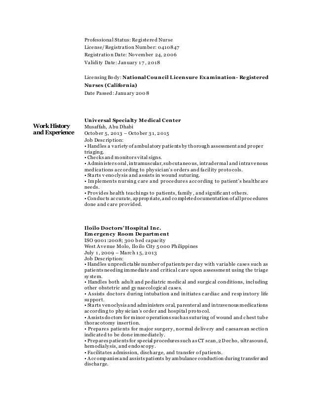 resume registered