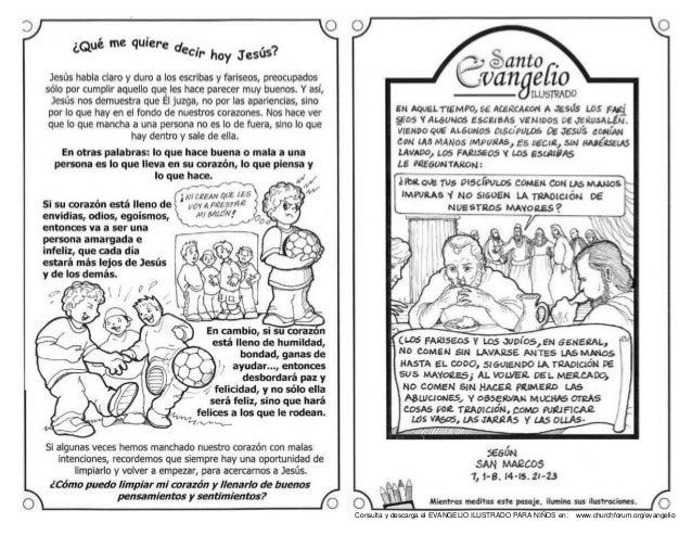 Evangelio Dominical Ilustrado Ninos San Marcos 7 1 7 14 19