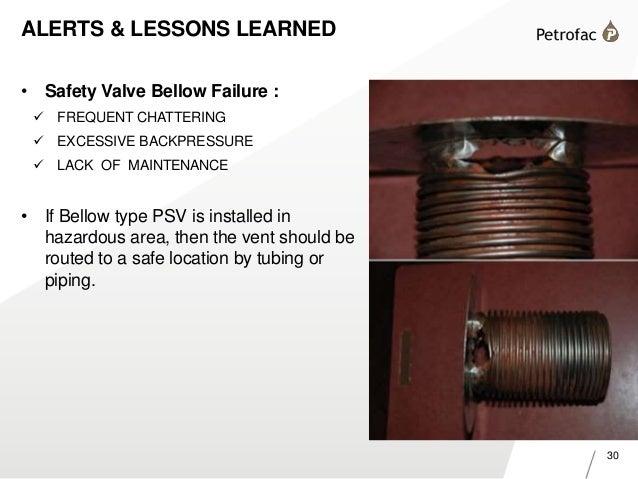 Pressure safety valves