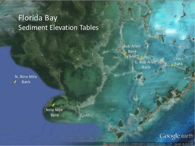 Florida Bay Sediment Elevation Tables N. Nine Mile Bank Nine Mile Bank Cross Bank Russell Bank Bob Allen Bank E. Bob Allen...