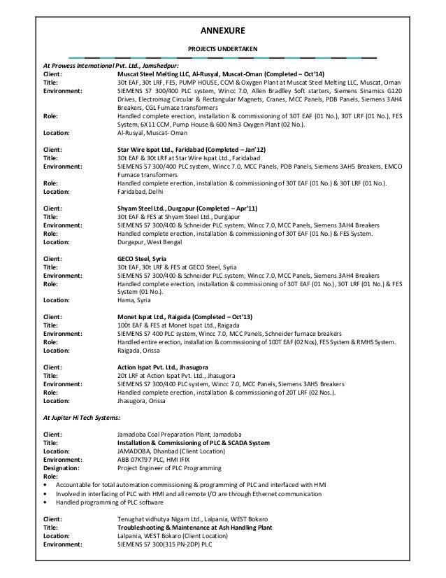 J Tarkeshwar Resume Electrical & Automation