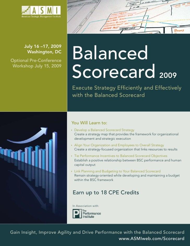 July 16 –17, 2009                              Balanced        Washington, DC Optional Pre-Conference                     ...