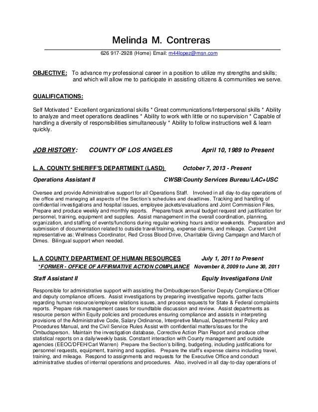 deputy sheriff duties resume
