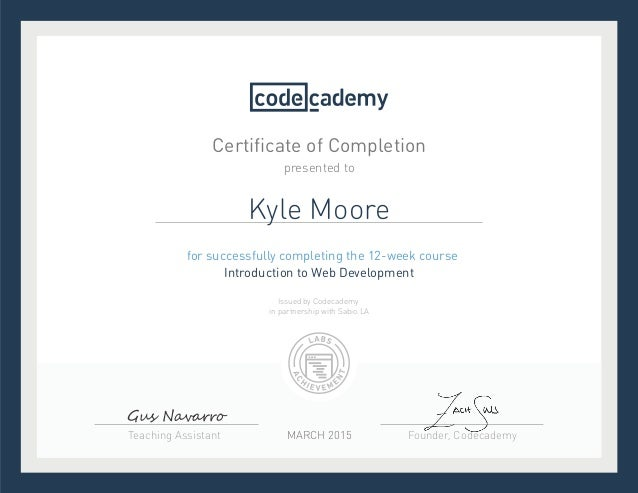 Codecademy Introduction to Web Development
