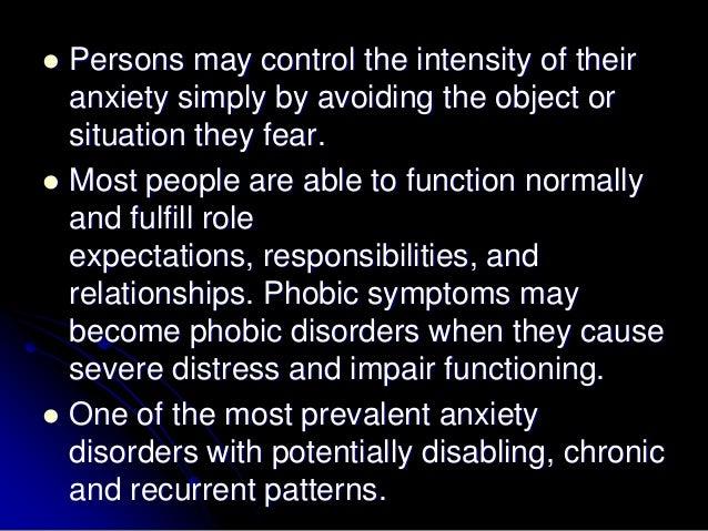 phobic disorder symptoms