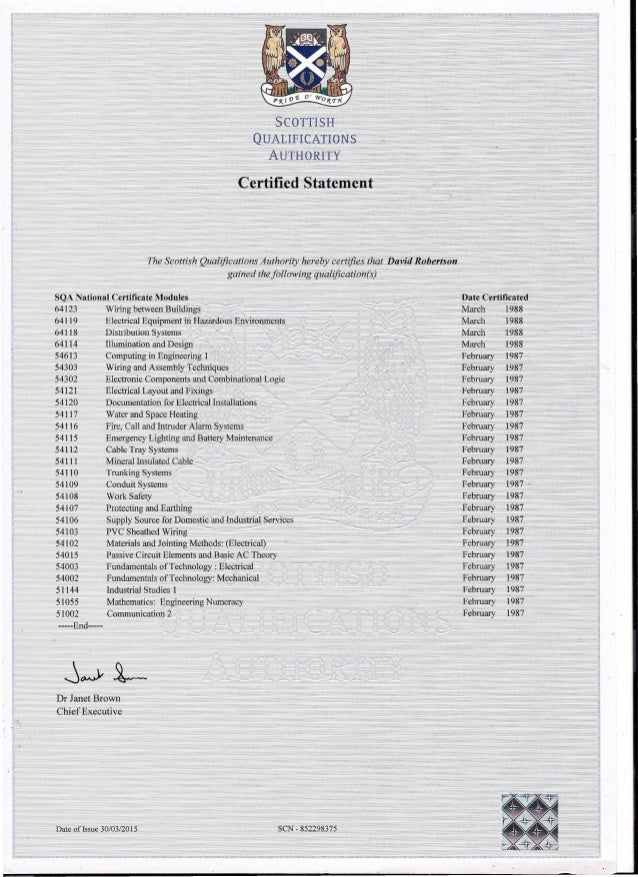 SQA Qualifications  Certificate List0001