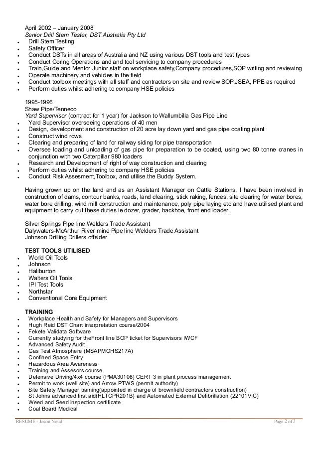 Awesome Cattle Station Manager Resume Pictures - Best Resume ...