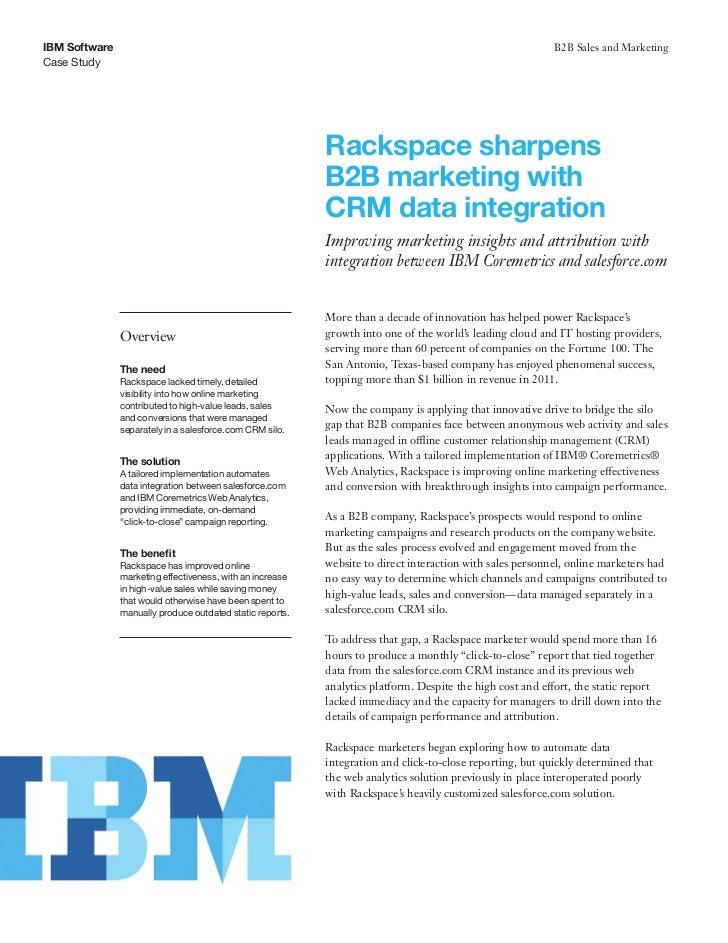 IBM Software                                                                                               B2B Sales and M...