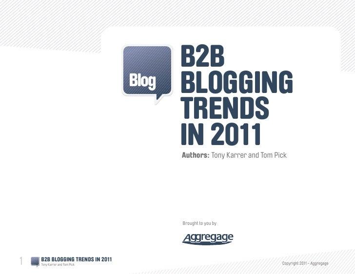 B2B                                  Blog   Blogging                                         Trends                       ...