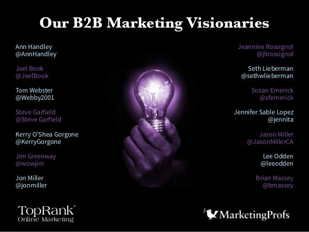 B2B Marketing in 2015  - 14 Visions of the Future You Can Use Today Slide 3