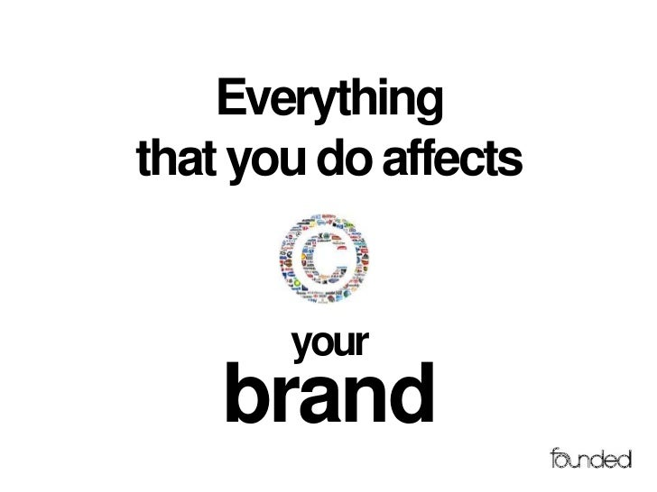 Everythingthat you do affects       your    brand