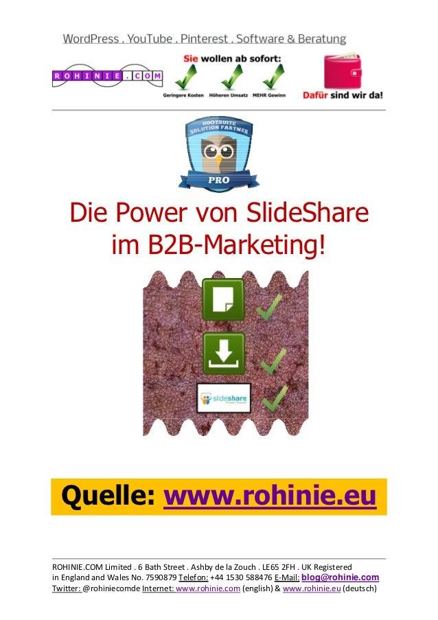 Die Power von SlideShare ...