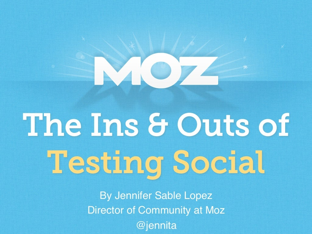 Kick Your Social Strategy Into Overdrive: The Ins & Outs of Testing Social