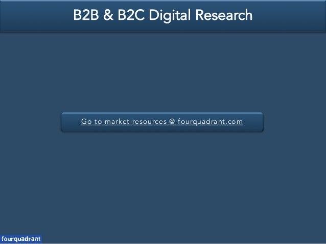 Go to market resources @ fourquadrant.com B2B & B2C Digital Research