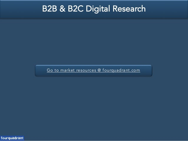Go to market resources @ fourquadrant.com B2B & B2C Digital Research