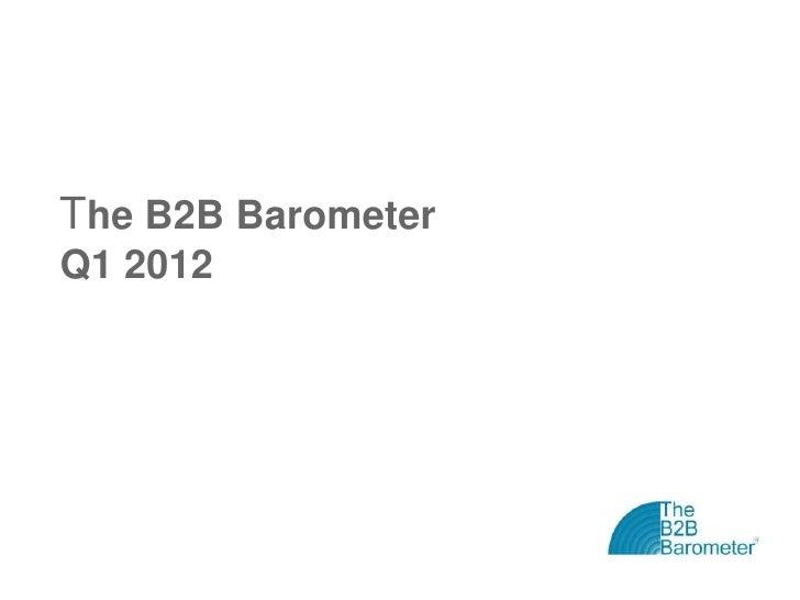The B2B BarometerQ1 2012