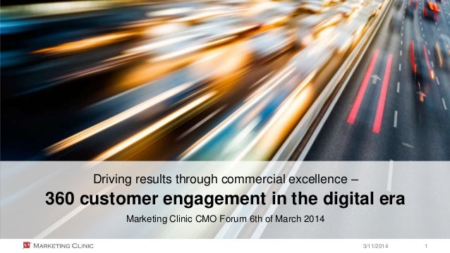 © Marketing Clinic Driving results through commercial excellence – 360 customer engagement in the digital era Marketing Cl...