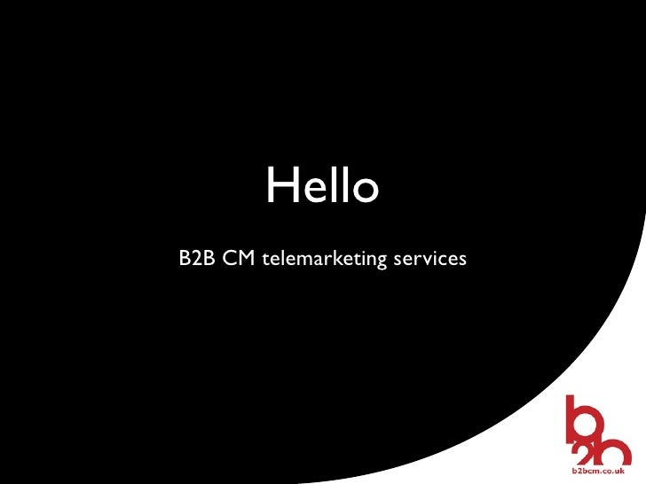 HelloB2B CM telemarketing services