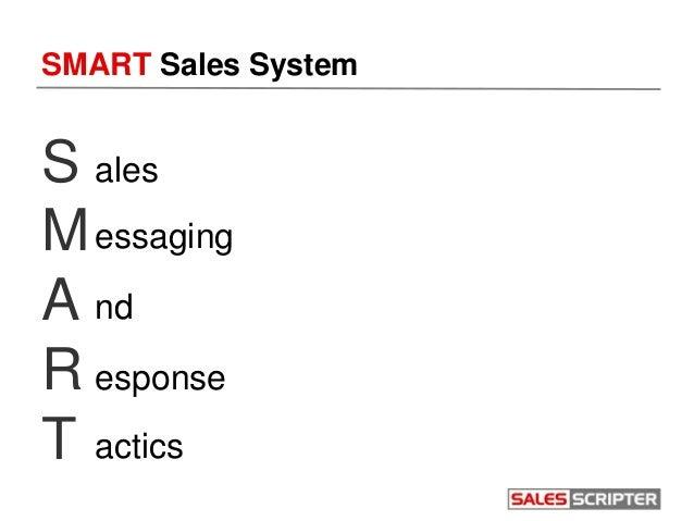 SMART Sales System S M A R T ales essaging nd esponse actics