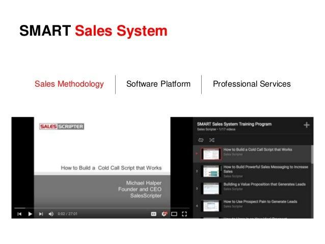 SMART Sales System Sales Methodology Software Platform Professional Services