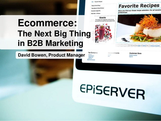 David Bowen, Product Manager Ecommerce: The Next Big Thing in B2B Marketing