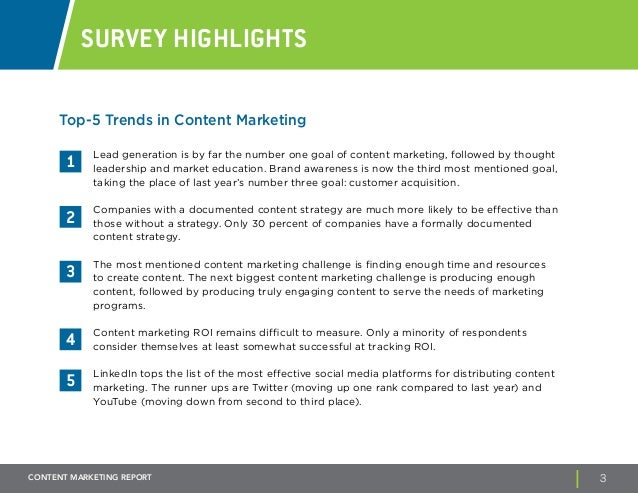 B2B Content Marketing Report – Marketing Report