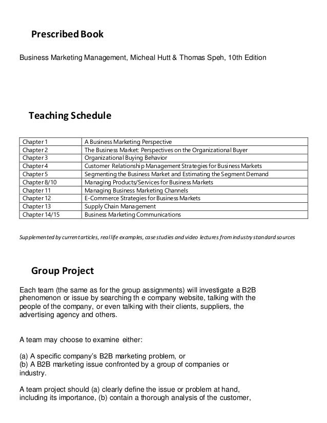 B2 b course outline