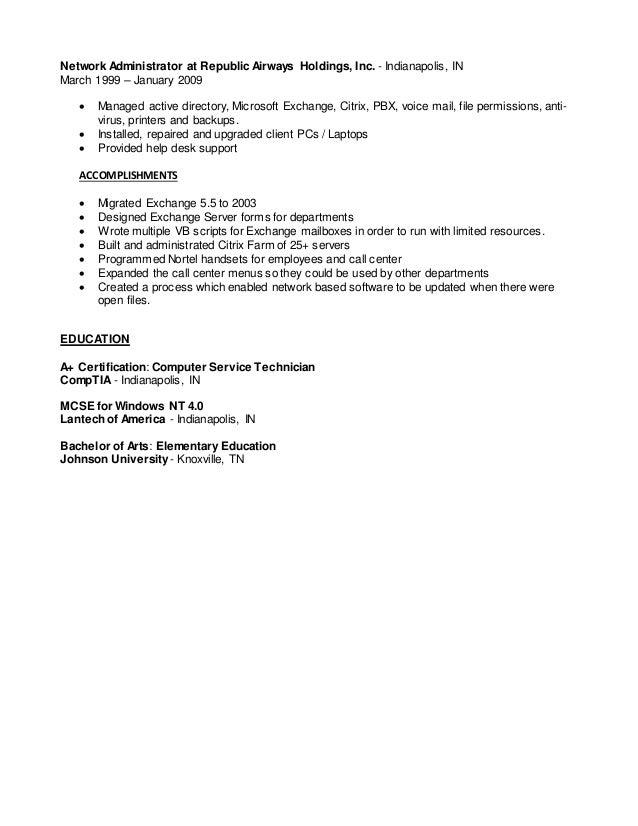 citrix administrator resume   Template citrix administrator resume