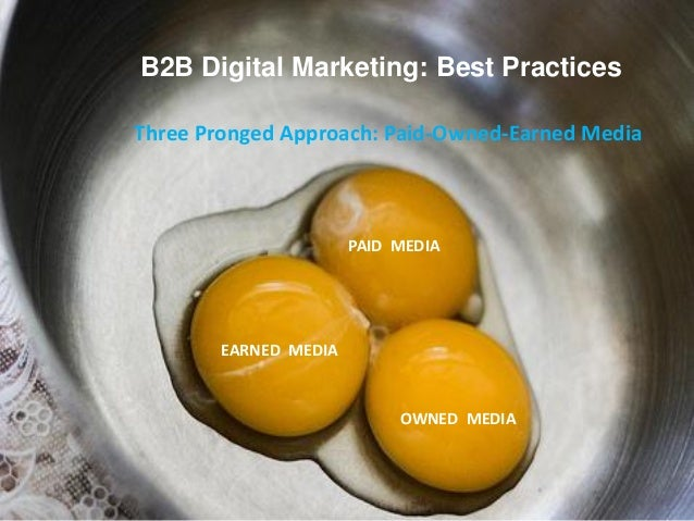 B2B Digital Marketing: Best PracticesThree Pronged Approach: Paid-Owned-Earned MediaEARNED MEDIAOWNED MEDIAPAID MEDIA