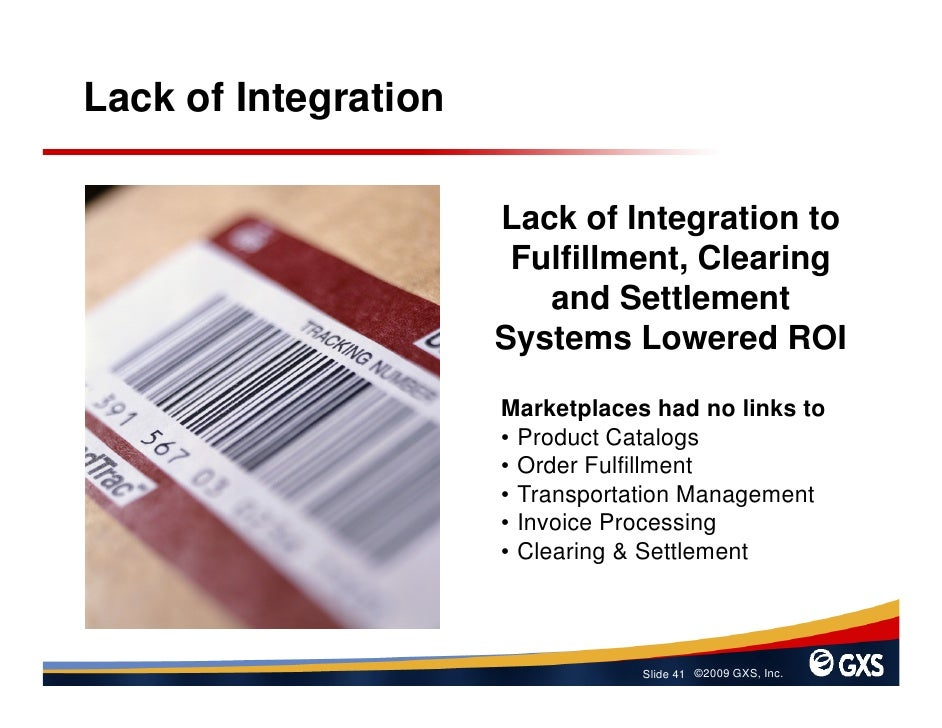 Lack of Integration                        Lack of Integration to                        Fulfillment, Clearing            ...