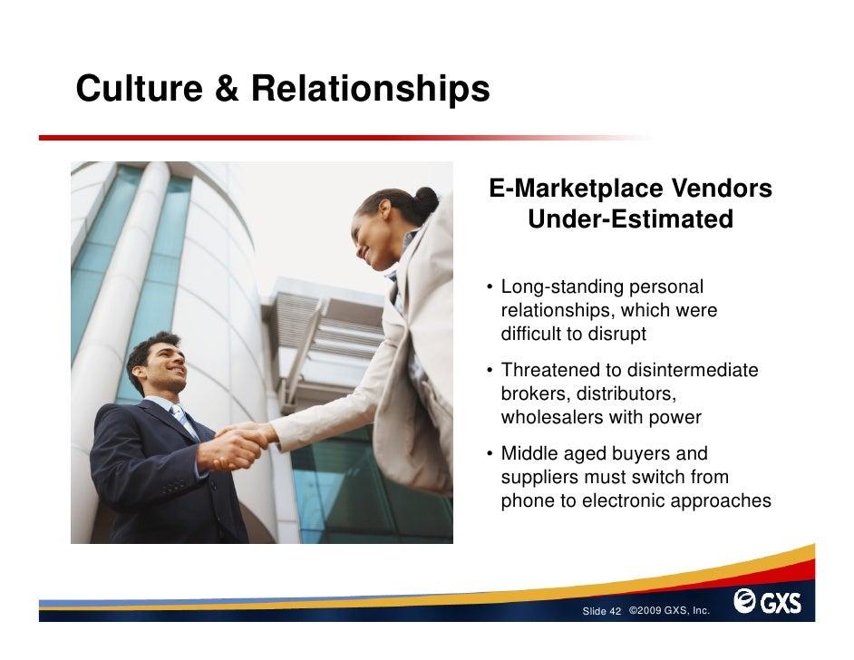 Culture & Relationships                        E-Marketplace Vendors                          Under-Estimated             ...