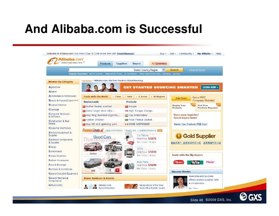 And Alibaba.com is Successful                                Slide 48 ©2009 GXS, Inc.