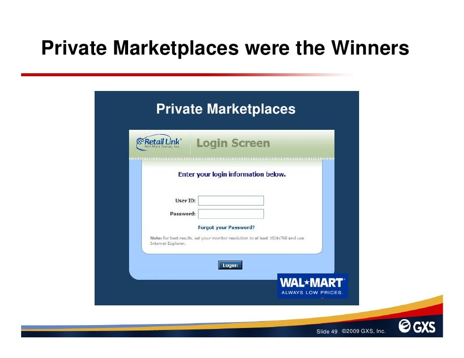 Private Marketplaces were the Winners             Private Marketplaces                                       Slide 49 ©200...