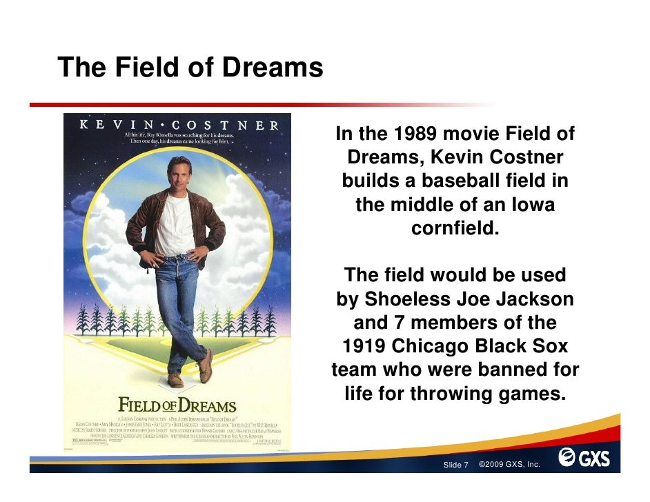 The Field of Dreams                        In the 1989 movie Field of                        Dreams, Kevin Costner        ...