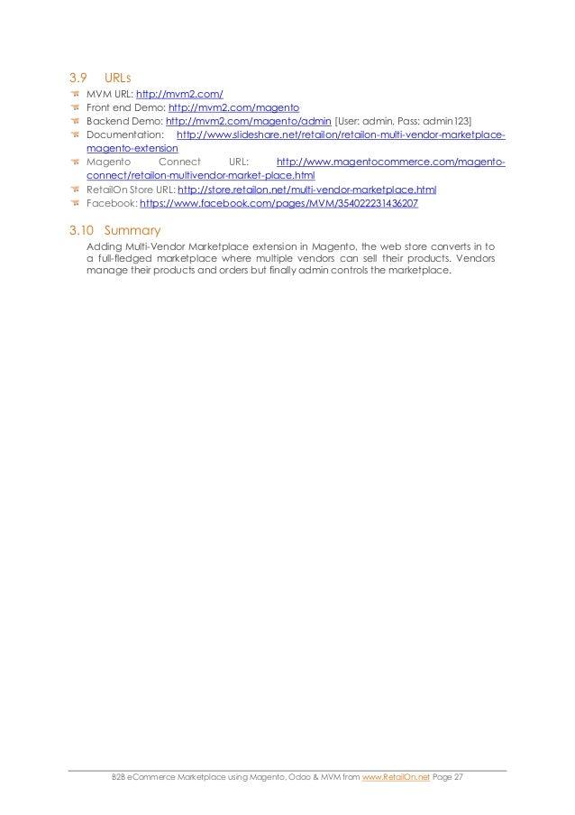 B2B eCommerce marketplace using Magento, Odoo & MVM from