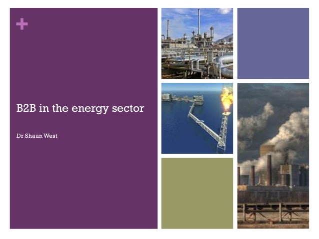 +  B2B in the energy sector Dr Shaun West