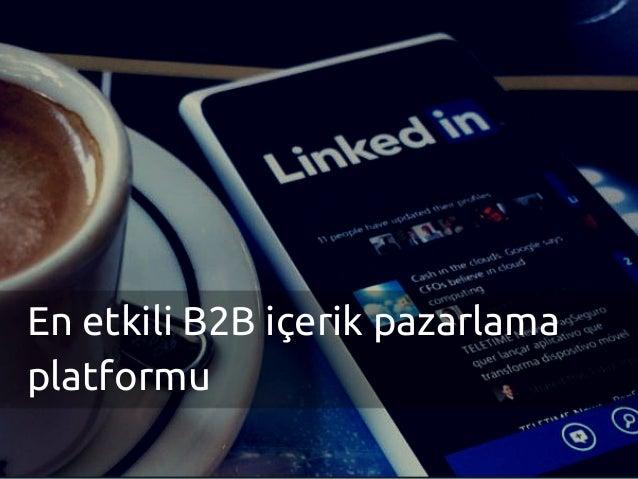 En etkili B2B içerik pazarlama platformu