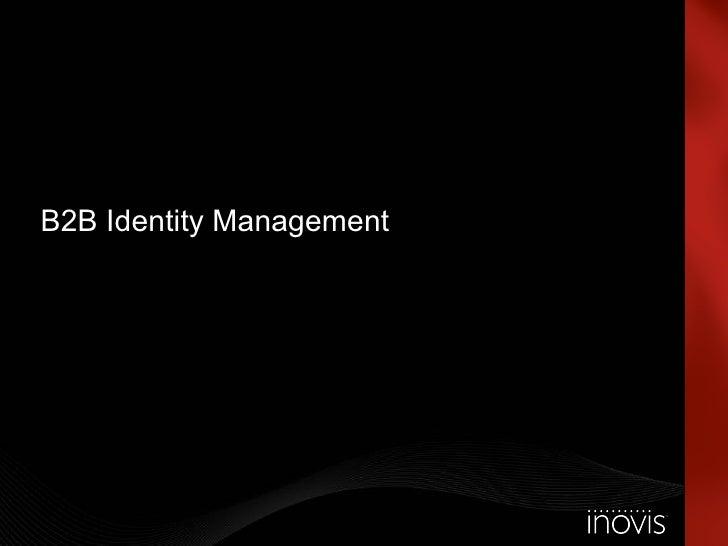 B2B Identity Management