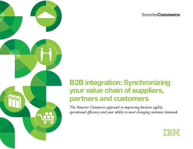B2 b integration   synchronizing your value chain of suppliers partners and customers