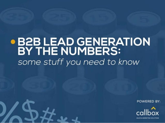 B2B Lead Generation By The Numbers Some Stuff You Need to Know