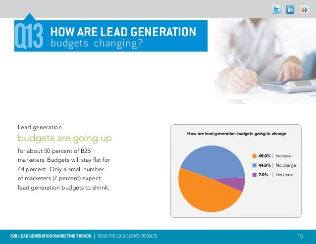 Q13             How are lead generation                  budgets changing?   Lead generation                              ...