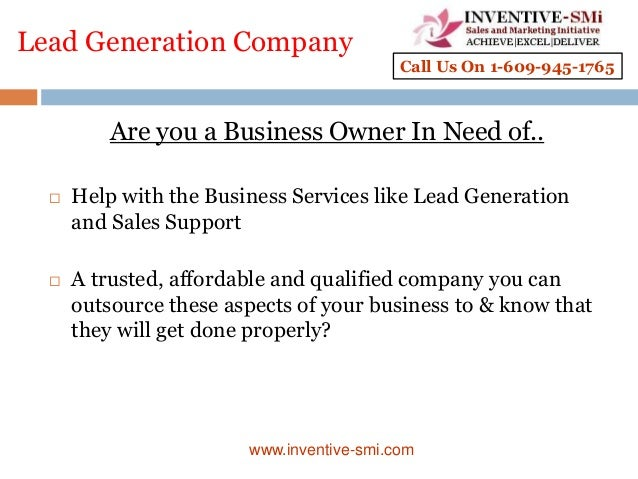 Lead Generation Company Are you a Business Owner In Need of..  Help with the Business Services like Lead Generation and S...