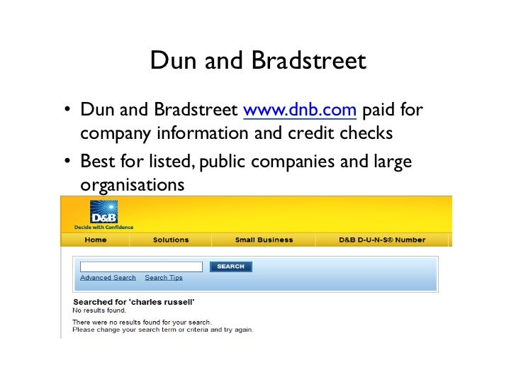 B2b lead generation how to research targets online for Donald bradstreet