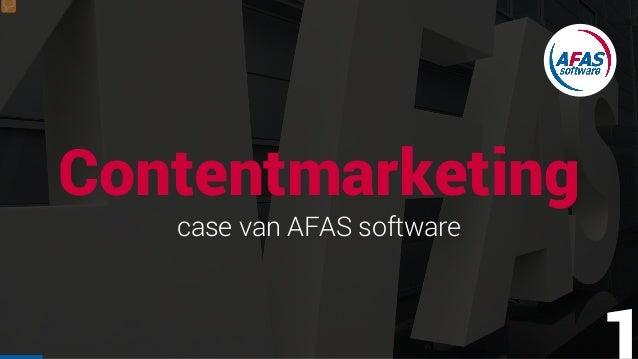 Contentmarketing case van AFAS software